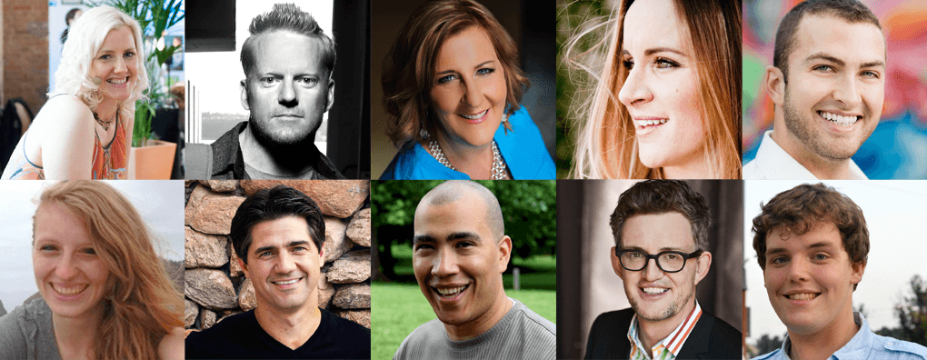 Inspirational Creatives podcast guests smiling faces